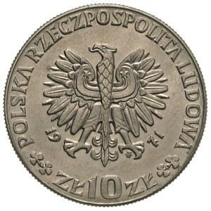 10 złotych 1971, FAO - Glob i kłosy zboża, na rewersie ...