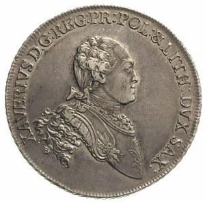 talar 1766, Drezno, Aw: Popiersie i napis, Rw: Tarcza h...
