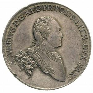 talar 1767, Drezno, Aw: Popiersie i napis, Rw: Tarcza h...
