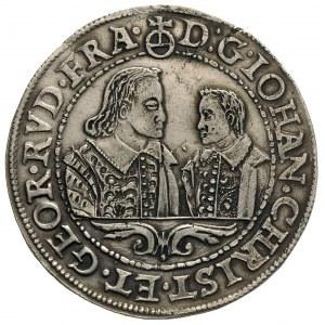 talar 1608, Złoty Stok, Aw: Popiersia dwóch braci i nap...
