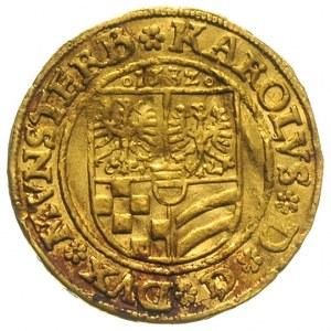 dukat 1532, Złoty Stok, Aw: Tarcza herbowa i napis, Rw:...
