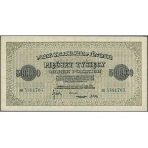 500.000 marek polskich 30.08.1923, seria AO, numeracja ...