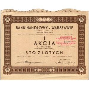 Bank Handlowy w Warszawie S.A., 1 akcja na 100 złotych ...