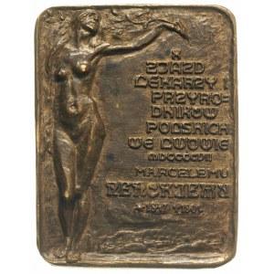Marceli Nencki -plakieta dwustronna 1907, Aw: Popiersie...