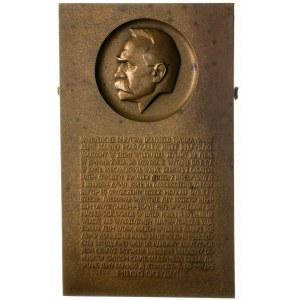 Józef Piłsudski -plakieta autorstwa J. Aumillera 1931 r...