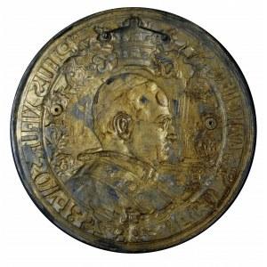 Pius XI -jednostronny medalion wydany nakładem Towarzys...