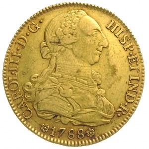 8 escudo 1788 / S-C, Sewilla, złoto 27.00 g, Cayon 1301...