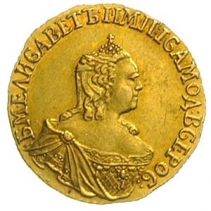 rubel 1756, Krasny Dwor, złoto 1.59 g, Diakov 390 (R1),...