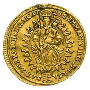 dukat 1725 / NB, Nagy Banya, złoto 3.42 g, Huszar 1588-...