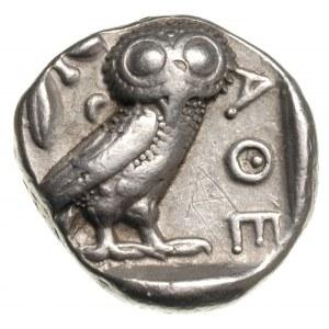 tetradrachma ok. 430 pne, Aw: Głowa Ateny w prawo, Rw: ...