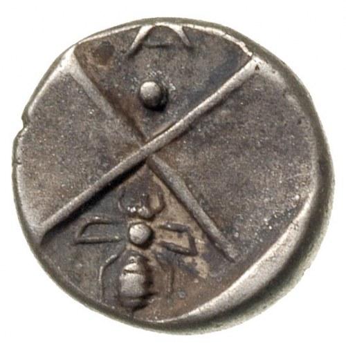 hemidrachma 386-338 pne, Aw: Popiersie lwa w prawo z gł...