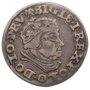 trojak 1540, Gdańsk, Iger G.40.1.c (R1), ciemna patyna