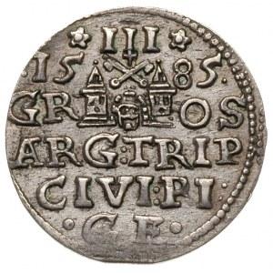 trojak 1585, Ryga, Iger R.85.1.k (R), Gerbaszewski 34, ...
