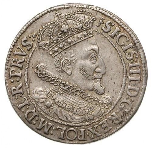 ort 1615, Gdańsk, popiersie króla z kryzą, dwukropek i ...