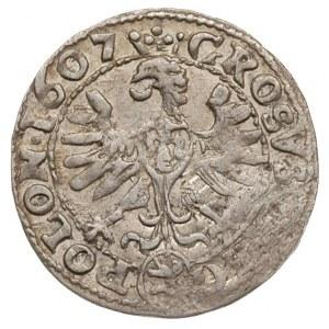 grosz 1607, Kraków, drobna wada bicia