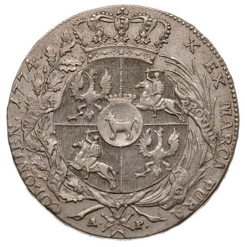talar 1774, Warszawa, srebro 27.96 g, Plage 390, Dav. 1...