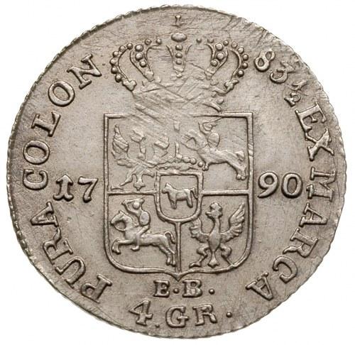złotówka 1790, Warszawa, Plage 298, lekko justowana, al...
