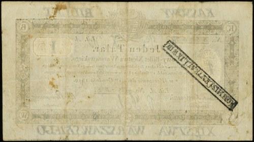 1 talar 1.12.1810, litera A, numeracja 35732, podpis ko...