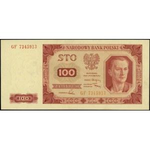 100 złotych 1.07.1948, seria GF, numeracja 7345913, bez...