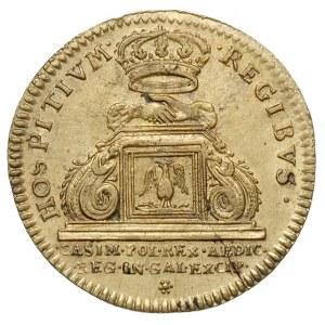 Jan Kazimierz -żeton wybity w 1669 r, we Francji w Mont...