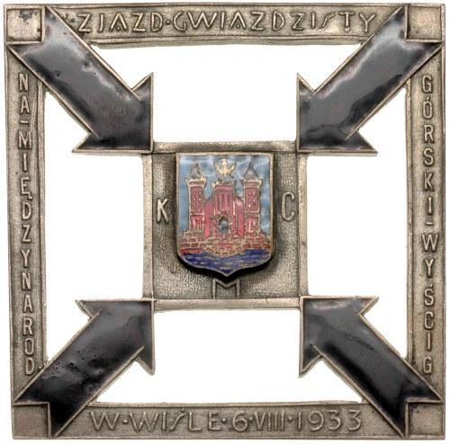 Zjazd Gwiaździsty w Wiśle 6 VIII 1933 r., plakieta auto...