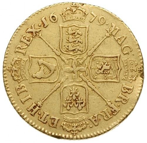 guinea 1679, czwarty typ popiersia, złoto 8.38 g, S.334...