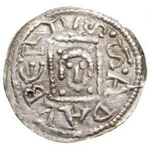 denar, Aw: Książę siedzący na tronie z mieczem na kolan...