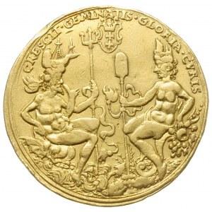 medal 10 dukatowy bez daty (1592), Gdańsk, Aw: Ukoronow...