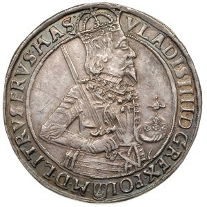 talar 1634, Bydgoszcz, Aw: Półpostać króla w prawo i na...