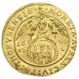 dukat 1666, Toruń, Aw: Popiersie króla w prawo i napis ...