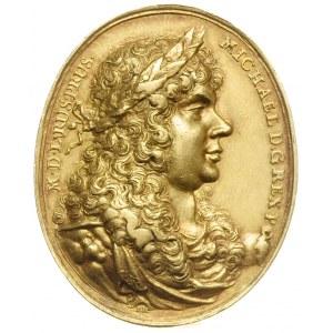 niedatowany owalny medal koronacyjny (1669) sygnowany I...