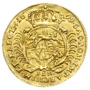 półdukat 1699, Drezno, Aw: Popiersie króla w prawo i na...