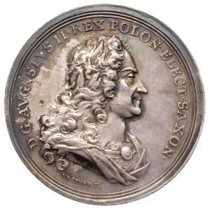 medal pośmiertny 1733, Aw: Popiersie w prawo, w otoku n...