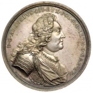 medal koronacyjny autorstwa H. P. Groskurta 1734 r, Aw;...