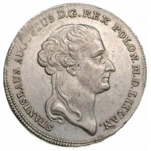 talar 1792, Warszawa, Aw: Głowa króla w prawo i napis w...