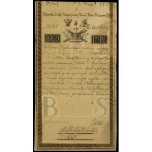 1.000 złotych 8.06.1794, seria A, numeracja 142, Lucow ...