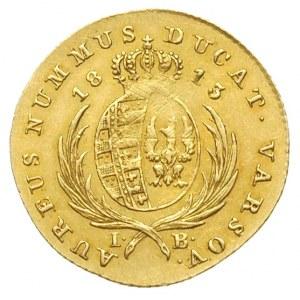 dukat 1813, Warszawa, Aw: Głowa króla i napis FRID AUG ...
