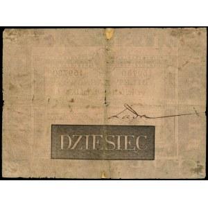 10 złotych 1824, litera B, numeracja 169780, podpisy: \...