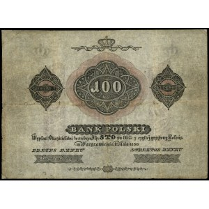 100 złotych 1830, seria 34, numeracja 864553, podpisy: ...
