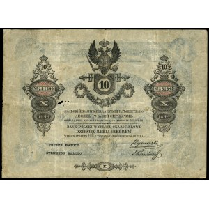 10 rubli srebrem 1844, seria K, numeracja 281345, podpi...