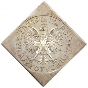 10 złotych 1933, Warszawa, Jan III Sobieski, na rewersi...