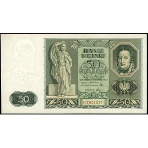 50 złotych 11.11.1936, seria AD, numeracja 1957527, Luc...