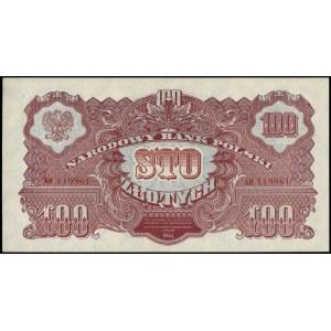 100 złotych 1944, w klauzuli \obowiązkowym, seria AH