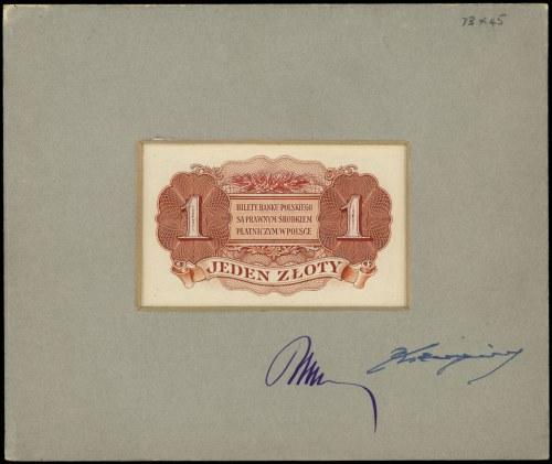 nieznany projekt niewprowadzonego do obiegu banknotu 1 ...
