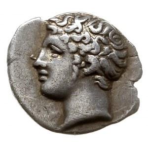 Galia, Massalia, obol, IV-III w pne, Aw: Głowa młodzień...