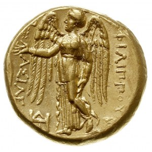 Macedonia, Filip III Arrhidaios, stater, Aw: Głowa Aten...