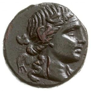 Tracja, Pantikapea, AE-25, 100-70 pne, Aw: Głowa Dioniz...