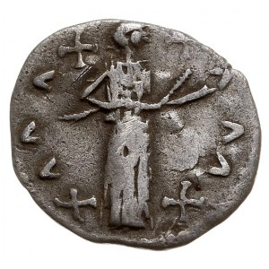 Słowiańskie naśladownictwo denara rzymskiego, Aw: Głowa...