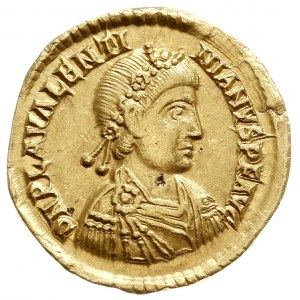 Walentynian III 425-455, solidus 430-445, Rawenna, Aw: ...