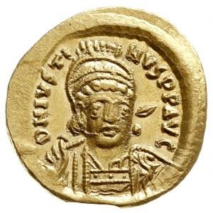 Justyn I 518-527, solidus 519-527, Konstantynopol, Aw: ...